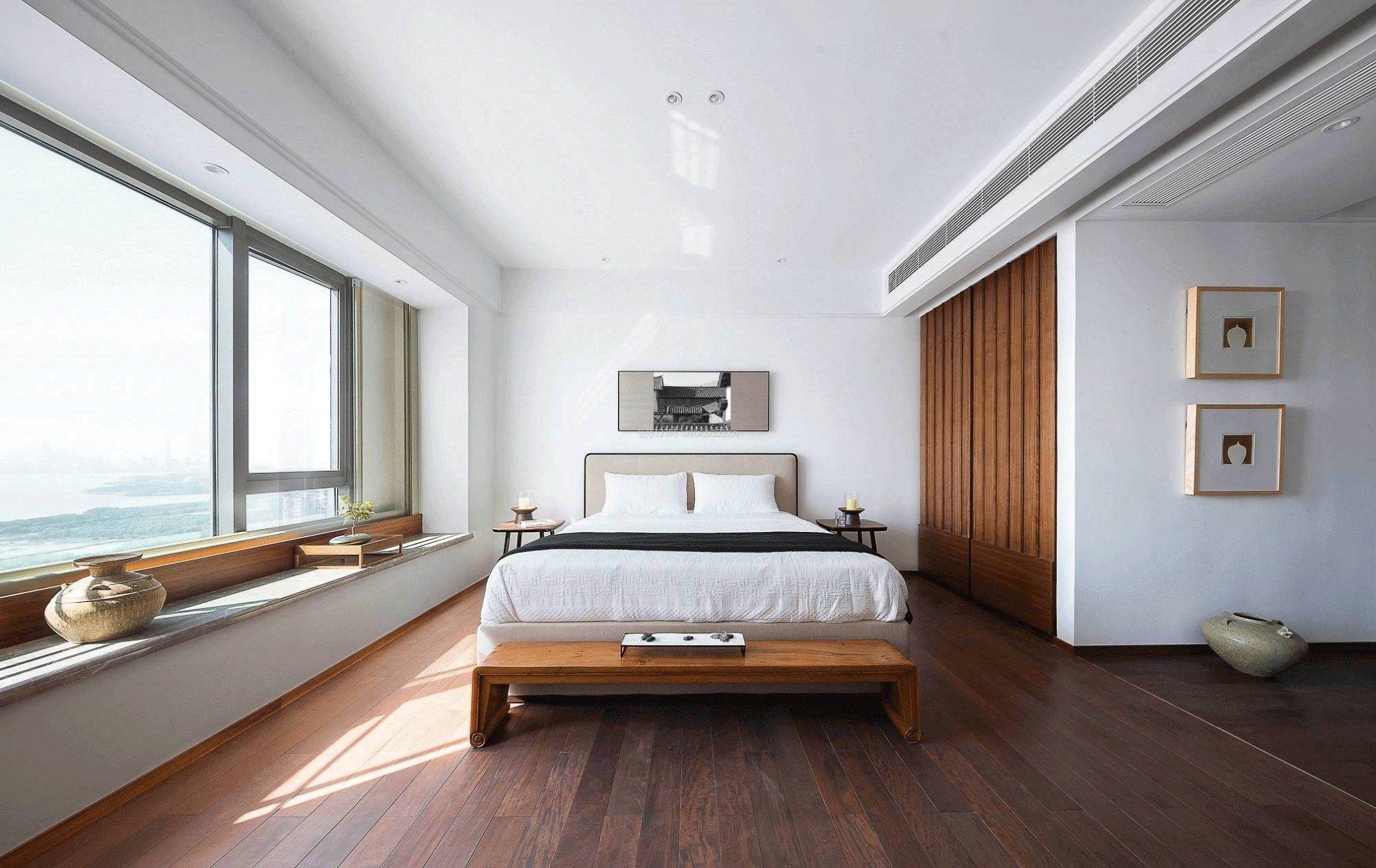 现代简约卧室门图片  190㎡大户型现代风格客厅电视背景墙装修图片