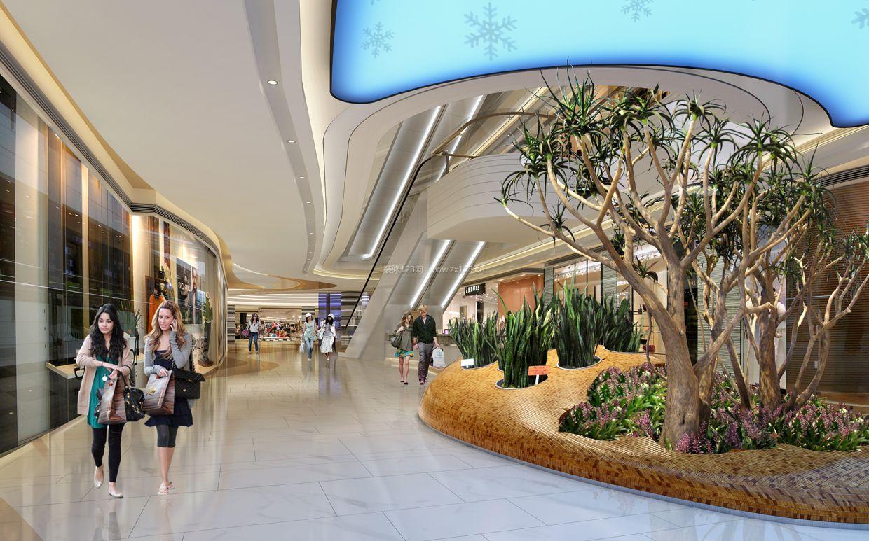2018商场中庭楼梯装修效果图