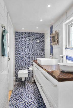装修效果图 白色马赛克瓷砖    小浴室背景墙马赛克效果图2018  1619