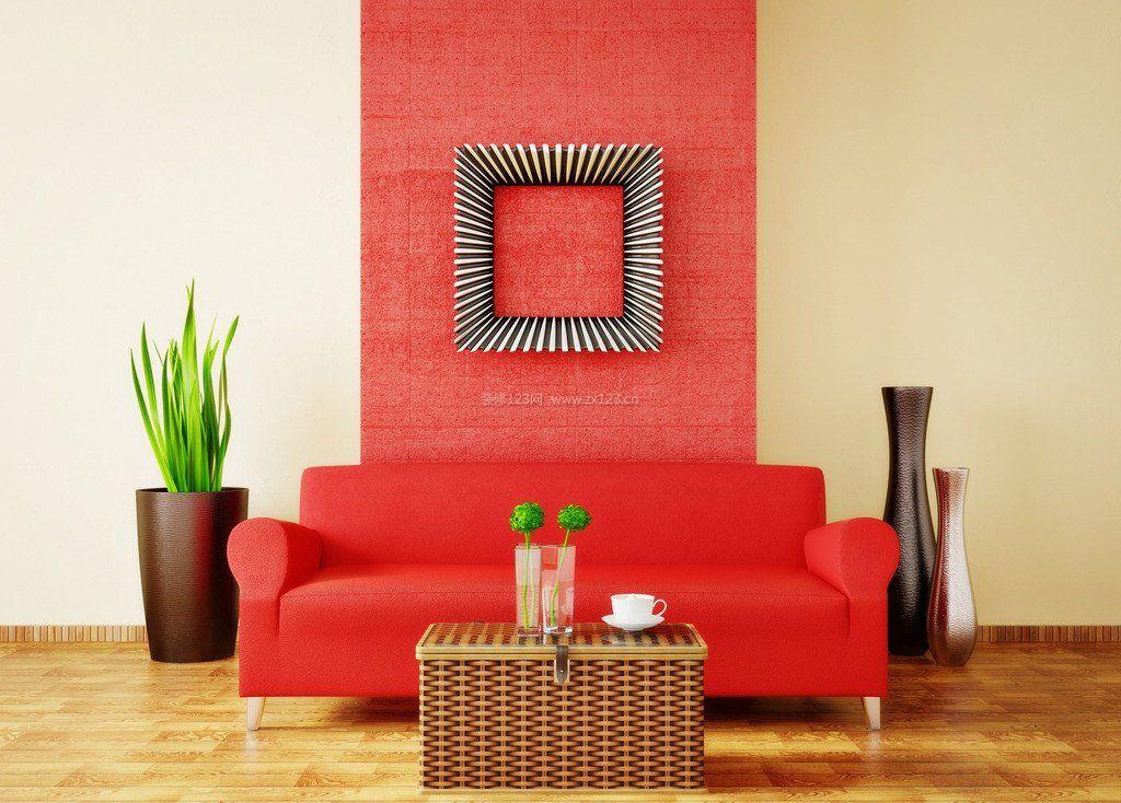 2018红色沙发客厅装修效果图