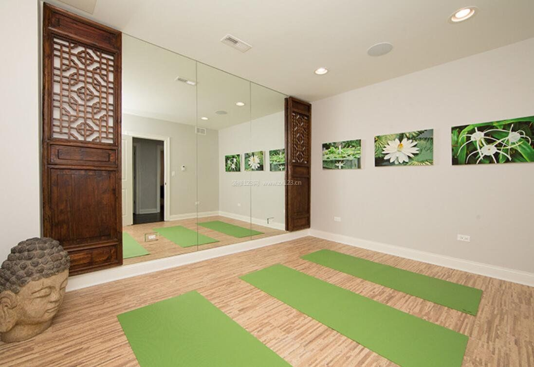 禅意风格瑜伽房装修设计效果图图片