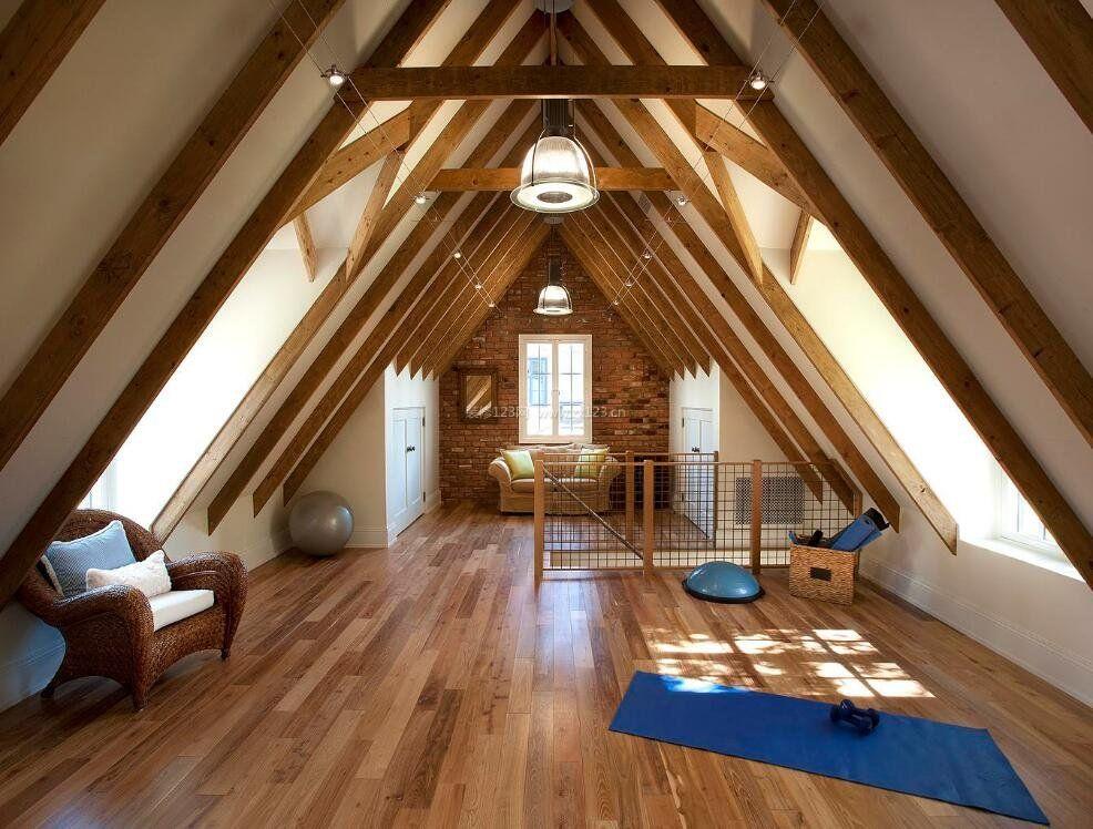 别墅阁楼瑜伽房装修设计效果图图片