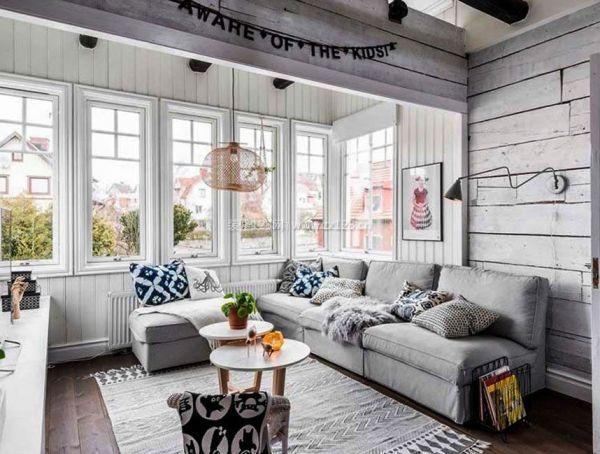 北欧风格优雅家居小客厅效果图