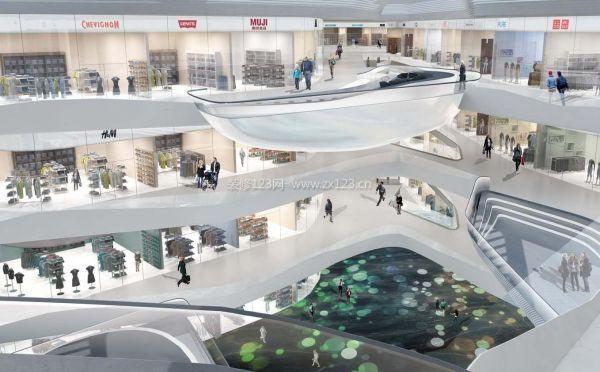 现代商场室内设计装修效果图