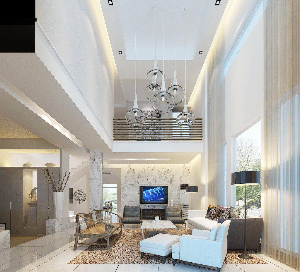 2018豪宅别墅复式客厅效果图图片
