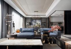 豪宅別墅客廳裝潢設計效果圖