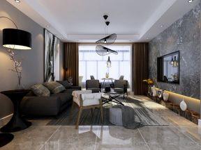 2018后现代风小客厅瓷砖电视背景墙-装修123网效果图图片