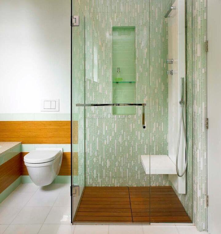 紧凑型卫生间淋浴房隔断设计效果图片