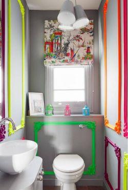緊湊型衛生間墻面裝飾設計