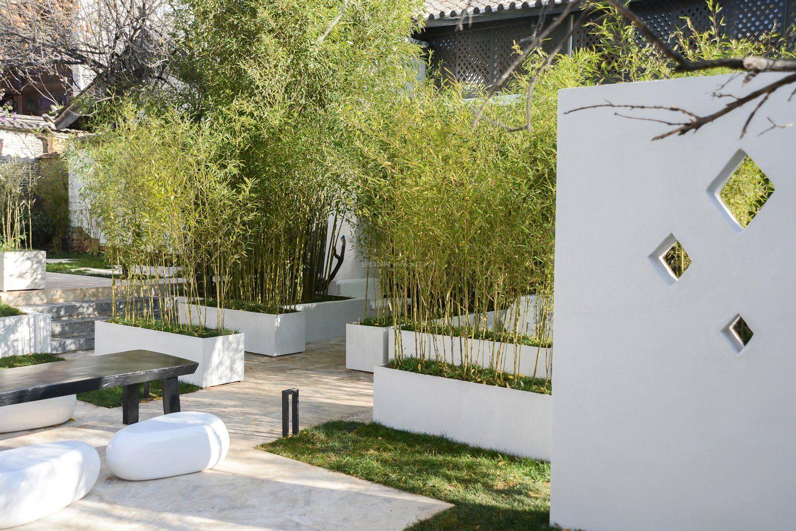 江南民居庭院设计效果图