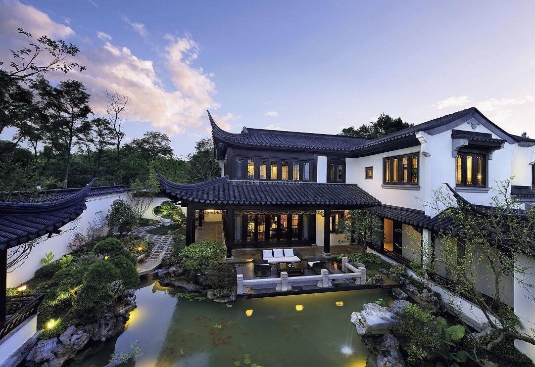 苏州园林式别墅四合院设计效果图图片