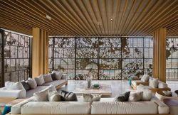 2018北京高檔別墅大客廳家具擺放圖片