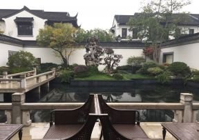 2018仿古中式苏州园林式别墅效果图图片
