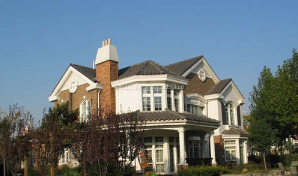 别墅屋顶外景图