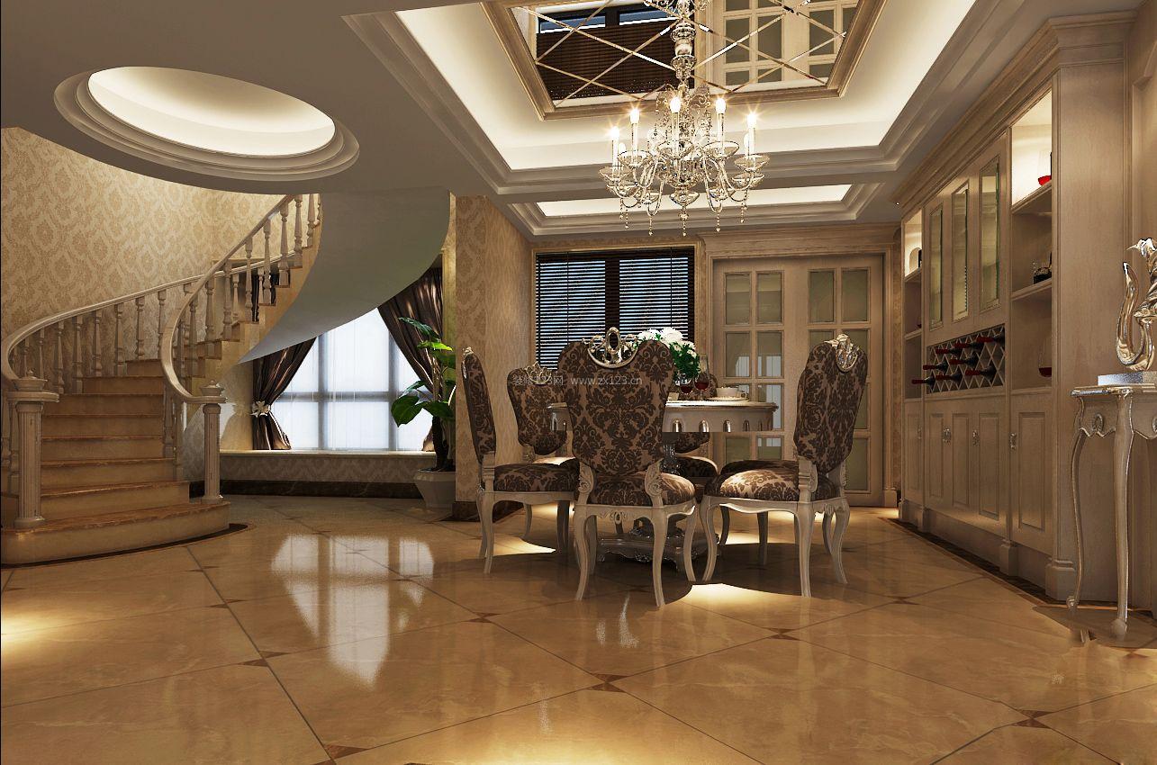 26平米欧式风格复式楼装修效果图图片