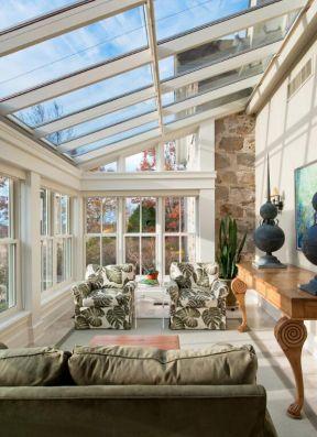 2018休闲客厅玻璃房顶图片图片