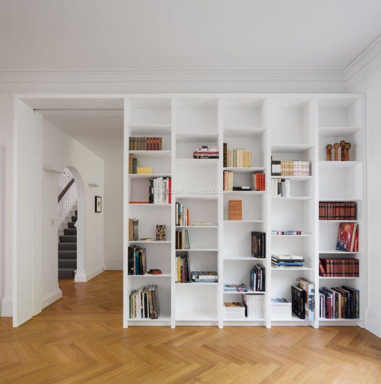 2018现代室内隔断家具书架装修图片_装修123效果图图片