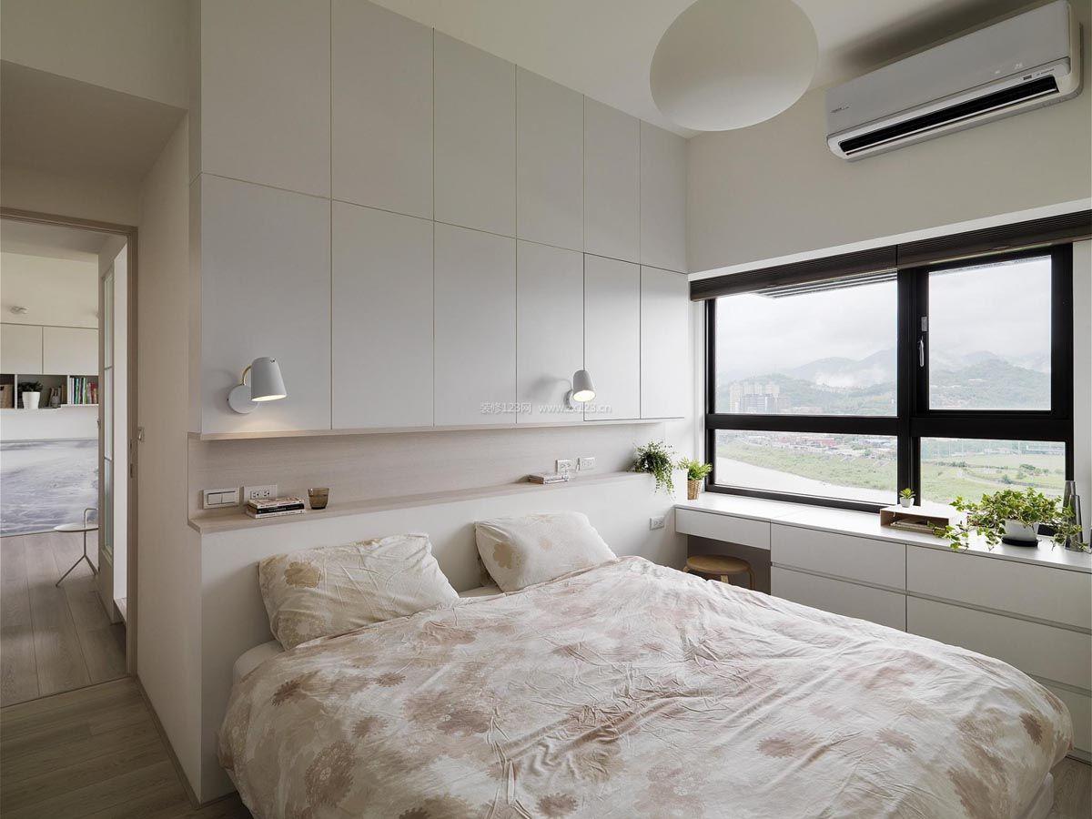 2018简约北欧风格温馨卧室的装修效果图片图片