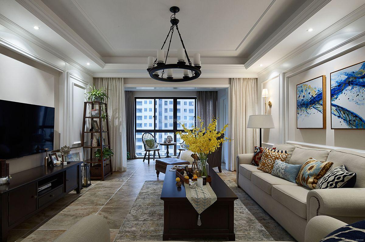 最新美式客厅整体装修效果图欣赏2018