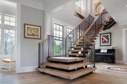 2018高檔別墅木結構樓梯設計