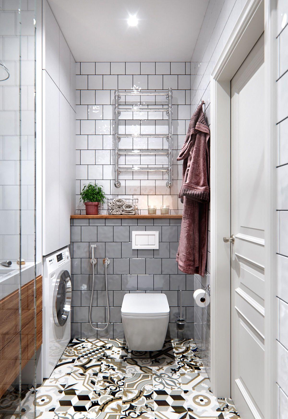 2018北欧卫生间地砖装修效果图片欣赏图片