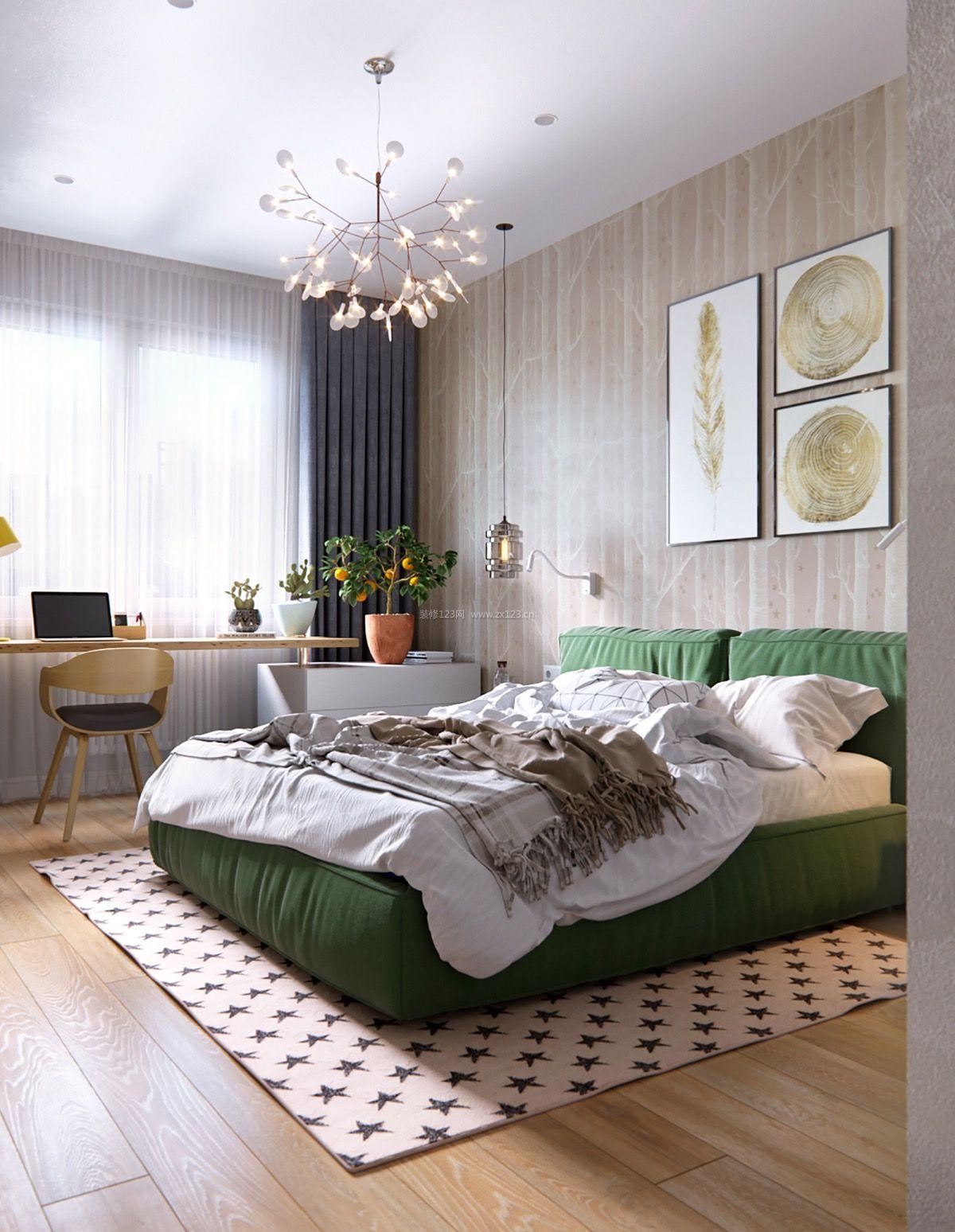 家装效果图 北欧 2018北欧卧室背景墙装饰装修效果图片 提供者:   ←图片