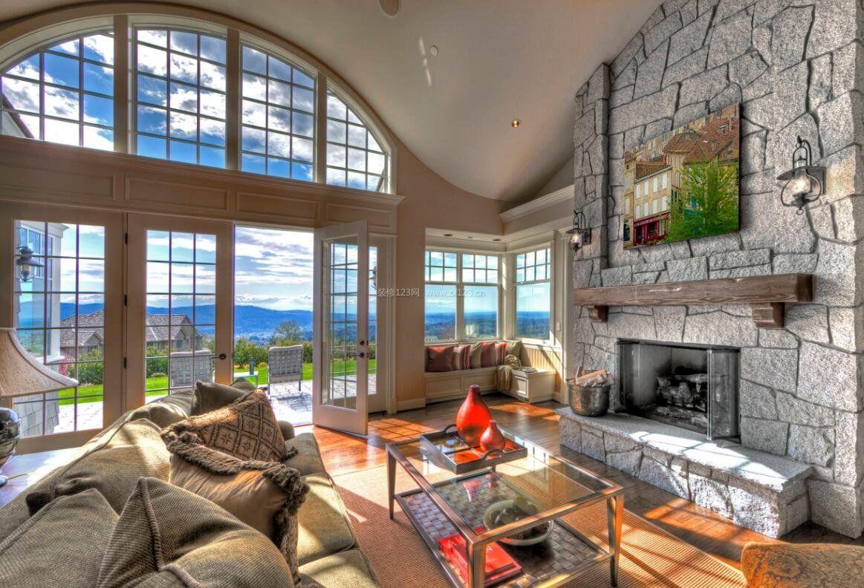 别墅客厅拱形窗户设计图片大全图片