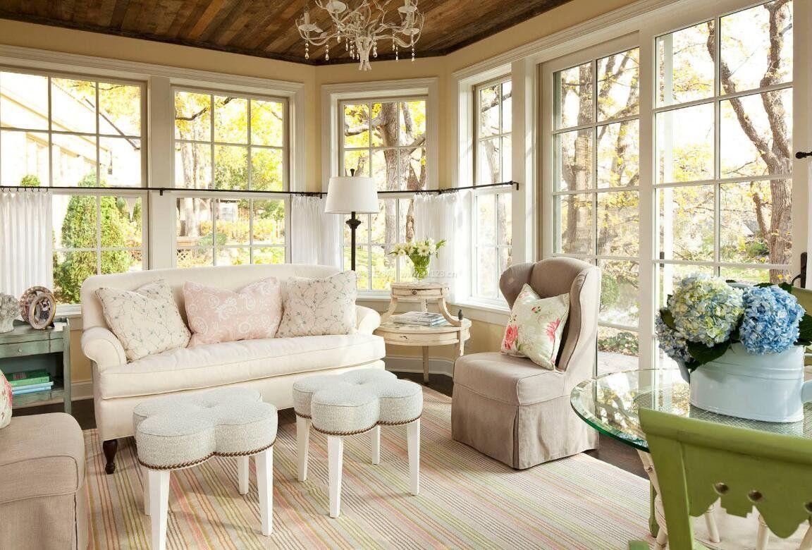 别墅欧式小客厅窗户设计图片大全_装修123效果图