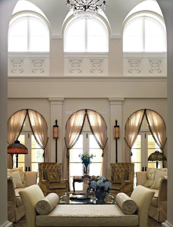 欧式别墅窗户拱形设计图片大全图片