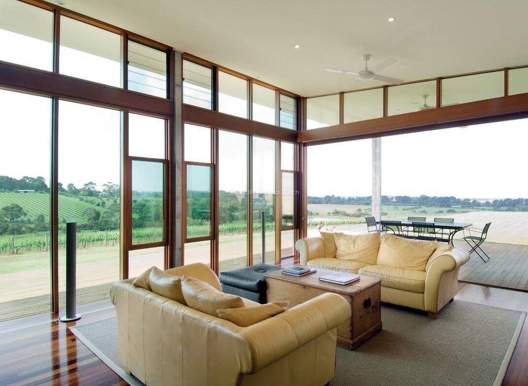 别墅开放式客厅窗户设计图片大全