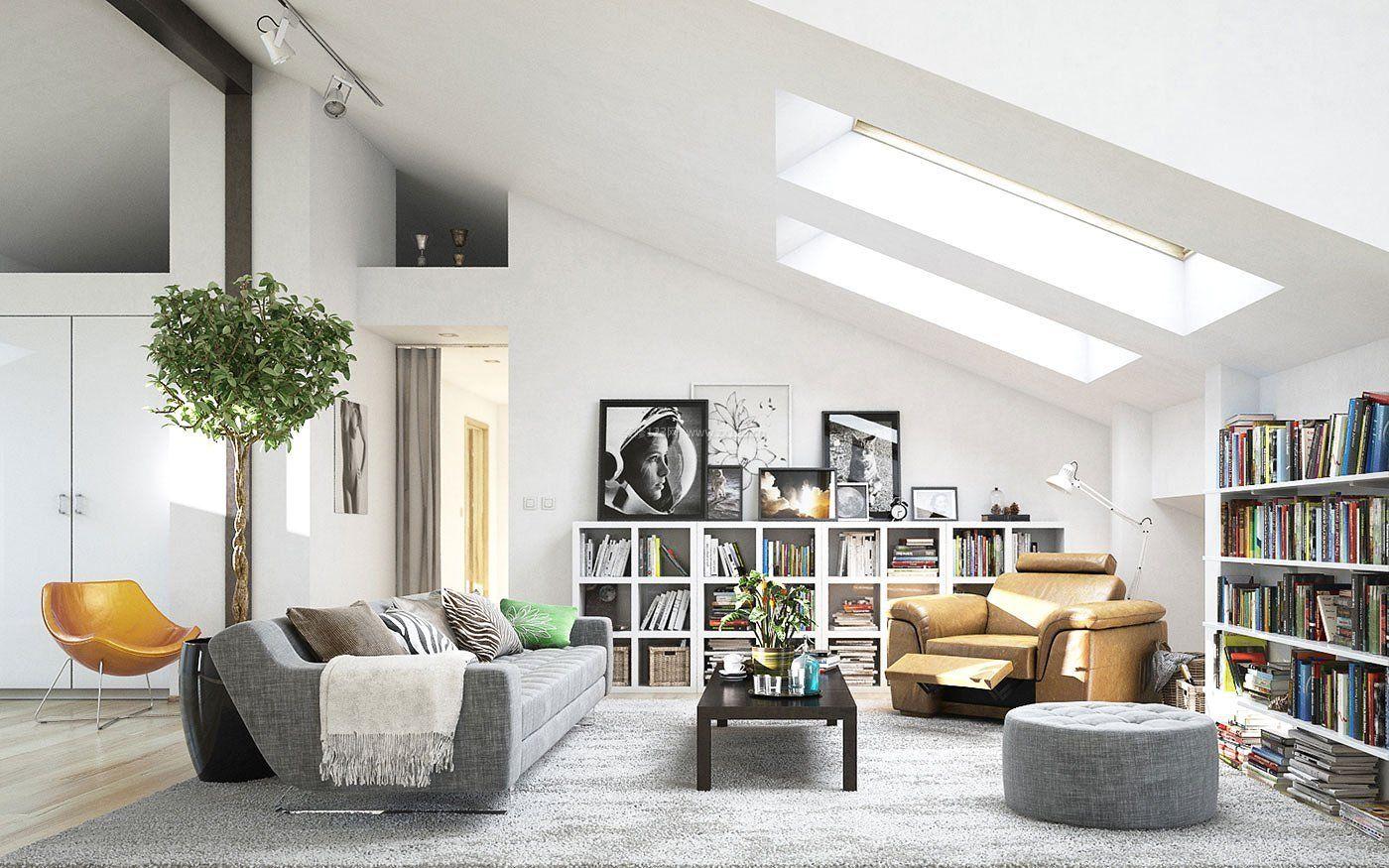 15平客厅阁楼天窗装饰设计图2018