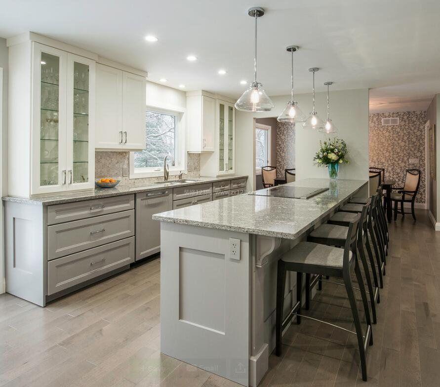 家装效果图 厨房 别墅厨房装修3米橱柜设计图2018 提供者:   ←