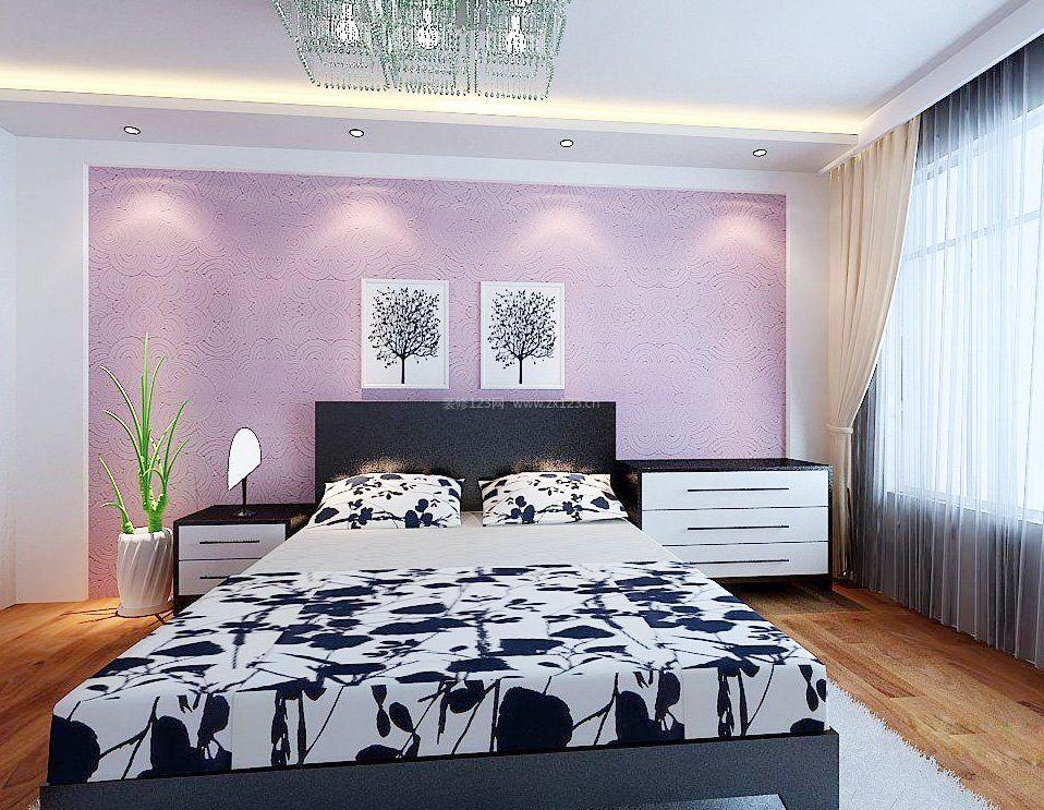 2018卧室背景墙硅藻泥效果图