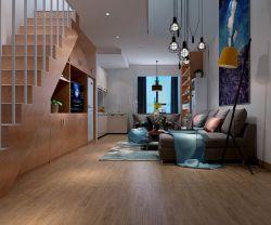 2018現代復式樓客廳整體裝修效果圖