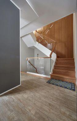2018现代北欧风格楼梯玻璃扶手装修效果图片