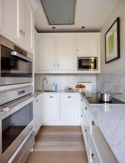 i型厨房3米橱柜设计图片
