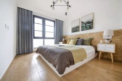 简约北欧风格卧室木地板装修效果图图片