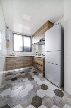 简约北欧风格厨房地砖颜色装修效果图片