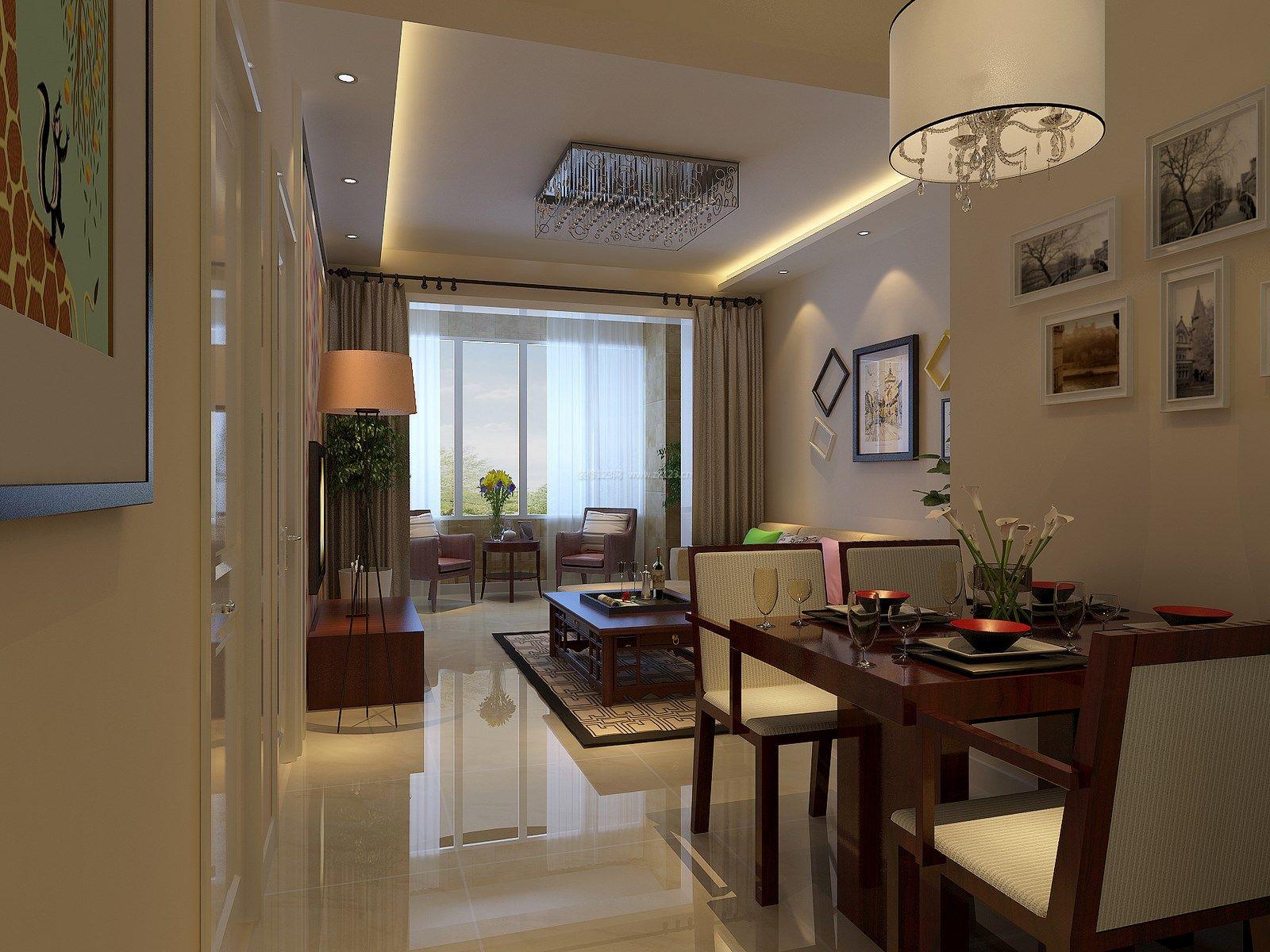 现代简约风格90平米房屋装修效果图实景