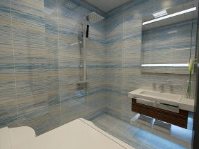 2018现代小户型卫生间装修图 2018卫生间墙砖地砖图片