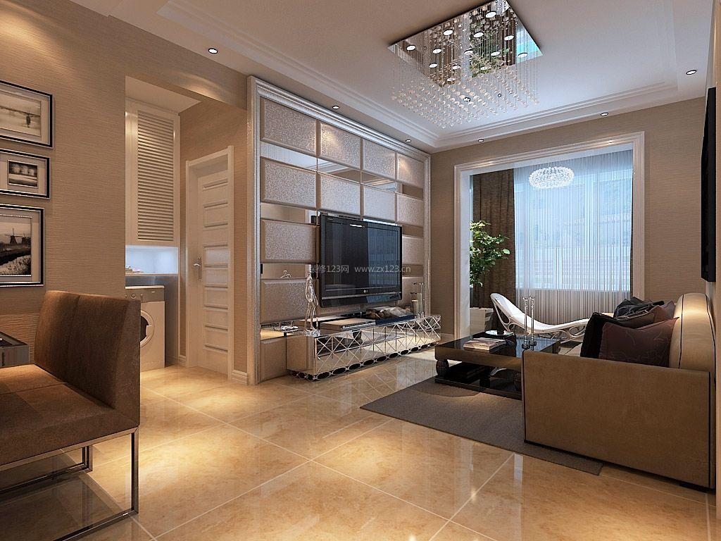 2018现代家庭客厅漂亮电视背景墙装修设计图