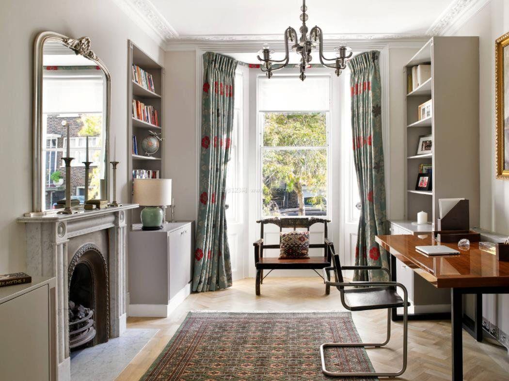 2018家装美式风格阳台窗帘效果图片图片