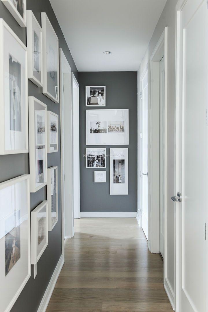 2018现代公寓走廊照片墙设计装修效果图