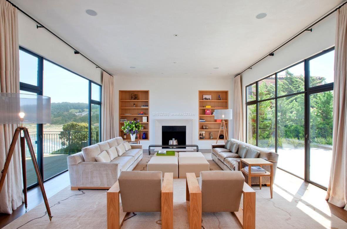 2018风格现代别墅门窗家装价格效果图每窗帘别墅阳台平米铝图片