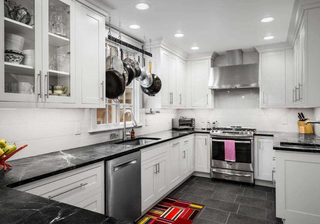 现代白色经典厨房设计图
