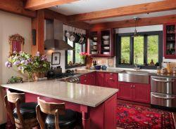 經典廚房櫥柜門板顏色裝飾設計圖