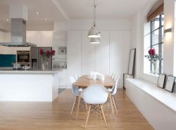 經典廚房極簡白色裝飾設計圖