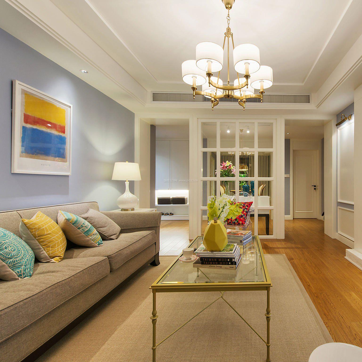 2018美式风格二居客厅吊灯