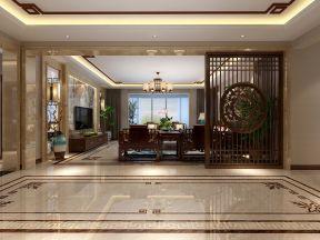 新中式 瓷磚 客廳裝修效果圖2019