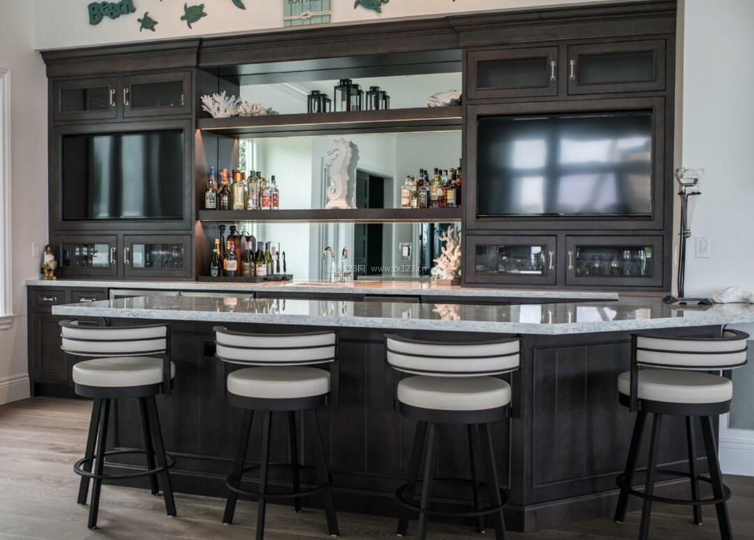 2018居家吧台带酒柜整体装修设计